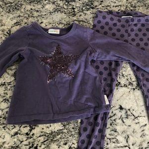 5/$30 Outfit Naartjie Purple Star Long Sleeve